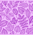 seamless floral pattern nature leaves concept vector image