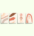 set abstract minimalistic typography with hand vector image vector image