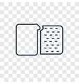 sewing thimble concept linear icon isolated on vector image