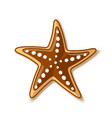 starfish icon in flat style placed on white vector image