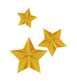 stars flying isolated icon vector image