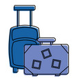 suitcases vintage and modern equipment travel vector image vector image