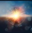 sunset on sky eps 10 vector image