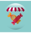 sweet candy design vector image