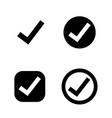 tick check mark icon vector image
