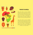 travel to africa banner template with information vector image vector image
