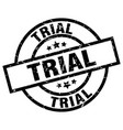 trial round grunge black stamp vector image vector image