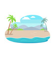 tropical summer with mountains vector image vector image
