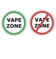 vape zone sign vector image vector image