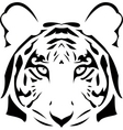vector abstract tiger head vector image vector image