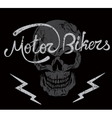Vintage label with skull and Motor Bikers text vector image vector image
