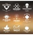 Vintage Typography Halloween Badges or Logos vector image vector image