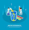 water purification isometric composition vector image vector image