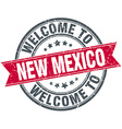welcome to New Mexico red round vintage stamp vector image vector image