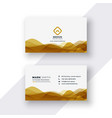 white and golden business card design vector image vector image