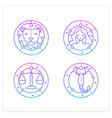 zodiac gradient icons set vector image vector image