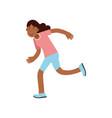 active teen girl running active lifestyle vector image