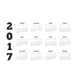 2017 year simple calendar on russian language vector image