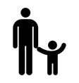 Father and kid symbol vector image