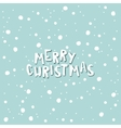 Merry Christmas on a light blue background with vector image