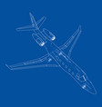 airplane blueprint vector image vector image