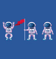 astronauts with suits and flag characters