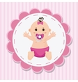 Baby girl cartoon of baby shower concept vector image