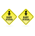 baby on board kids vector image vector image