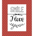 Background with a humorous inscription Smile I vector image vector image