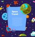 background with place for text with cartoon vector image vector image