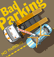 Bad Parking vector image vector image