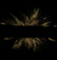 black background with golden glitter explosion vector image