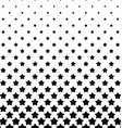 Black white pentagram star pattern background vector image vector image