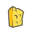 block of cheese clipart for icon or vector image vector image