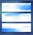 blue business horizontal web banners set vector image vector image