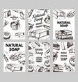 bubble bath soap poster or banner washing hands vector image