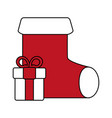 christmas sock design vector image