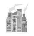 city single icon in monochrome stylecity vector image