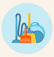 cleaning service household equipment for mopping vector image vector image