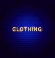 clothing neon text vector image vector image