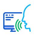 computer human voice control icon vector image