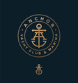 crossed letter a monogram anchor yacht club logo vector image