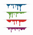 different paint dripping abstract blob vector image