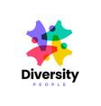 diversity people team human community logo icon vector image