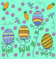 doodle of easter egg style cartoon vector image