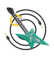 electric guitar with headphones music vector image vector image