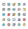 Electronic Cool Icons 6 vector image vector image