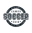 emblem soccer championship vector image