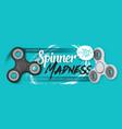 fidget spinner realistic hand spinner sale banner vector image vector image