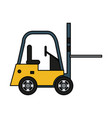 forklift machinery icon image vector image